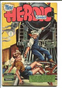 HEROIC COMICS #45 1947-RAILROAD RESCUE COVER-WILD FN