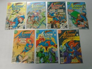 Action Comics lot 14 different from #472-486 avg 7.0 FN VF (1977-78)