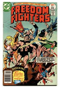 Freedom Fighters #7-1977-First appearance of CRUSADERS-DC