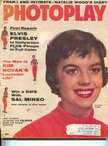 Photoplay-Elvis Presley-Sal Mineo-Kim Novak-Robert Mitchum-Dec-1956
