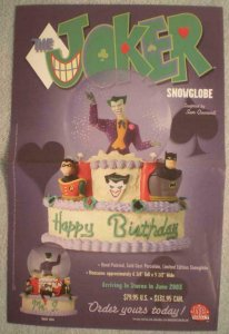 JOKER SNOWGLOBE Promo poster, Batman, 2003, Unused, more in our store