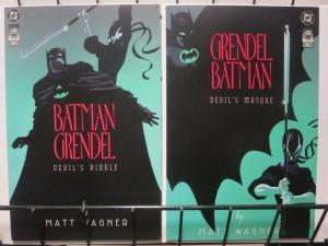 BATMAN GRENDEL (1993)1-2 Devil's Masque/Riddle! Wagner!