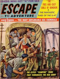 ESCAPE TO ADVENTURE 1963 SEPT COMMIE COVER  -CHEESECAKE VG