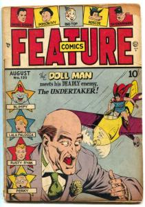 Feature Comics #125 1948- DOLL MAN-  Undertaker VG