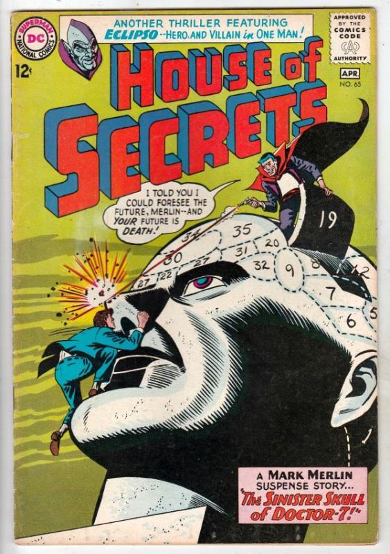 House of Secrets #65 (Apr-64) VF High-Grade Mark Merlin, Eclipso