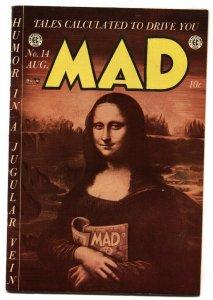 MAD #14 EC-1954-Wally Wood-Mona Lisa cover-Comic Book-FN/VF