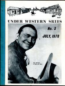 Under Western Skies #3 7/1978-Tex Ritter-B-Westerns-VG/FN