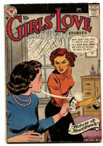 Girls' Love Stories #57 comic book 1958- DC Romance- Fight cover