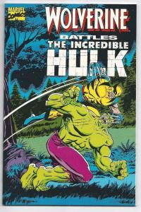 WOLVERINE BATTLES THE INCREDIBLE HULK #1, NM, Herb Trimpe, Marvel 181 1989