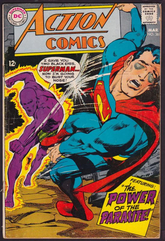 Action Comics #361 (Mar 1968, DC) VG [SKU 161224_0015]