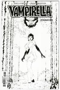 Vampirella #4 RI 1:20 Phillip Tan B&W Variant (Dynamite, 2017) NM