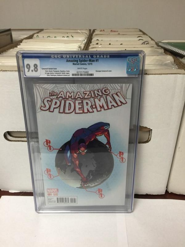 Amazing Spider-Man 1 2015 Cgc 9.8 Camuncoli Variant