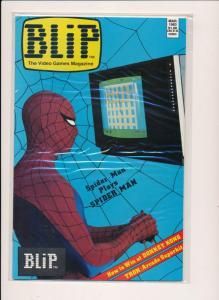 Marvel Comics BLIP Video Games Magazine #2 Spider-Man Cvr ~ VF/NM 1983 (HX991)