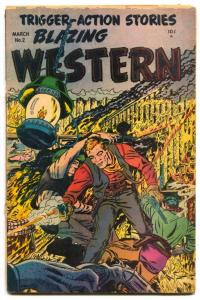Blazing Western #2 1954- WHITE REDSKIN- Golden Age G