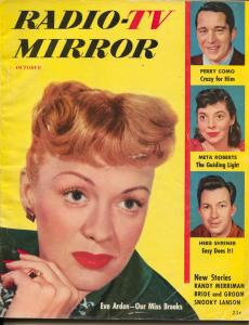 Radio And TV Mirror-Eve Arden-Perry Como-Meta Roberts-Oct-1953