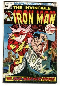 IRON MAN #54 1972 Marvel comic book First MOONDRAGON vg+