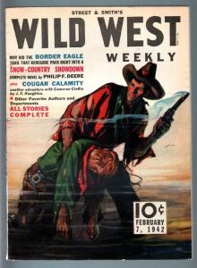 WILD WEST WEEKLY 2/7/1942-WESTERN PULP-STREET & SMITH VF