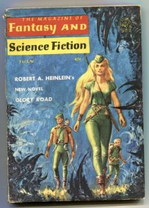Magazine of Fantasy & Science Fiction July 1963- Glory Road -Heinlein