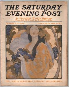 Saturday Evening Post 10/15/1904-GGA portrait cover-W Everett-vintage ads-VG