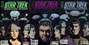 Star Trek: Romulans Schism #1-3 (2009) IDW Comics - 3 Comics