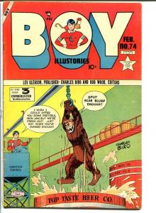 BOY COMICS #74-beer torture cover-Golden Age-Iron Jaw VG
