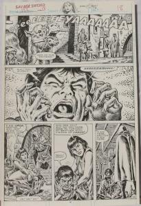 ERNIE CHAN Published Original Art SAVAGE SWORD of CONAN #152,pg 18, Signed w/art