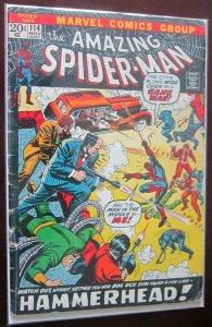 The Amazing Spider-Man 1st app, hammerhead #114 2.5 GD+  (1972)