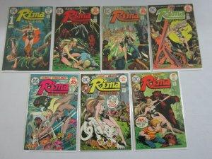 Rima the Jungle Girl set #1-7 avg 6.0 FN (1974-75)