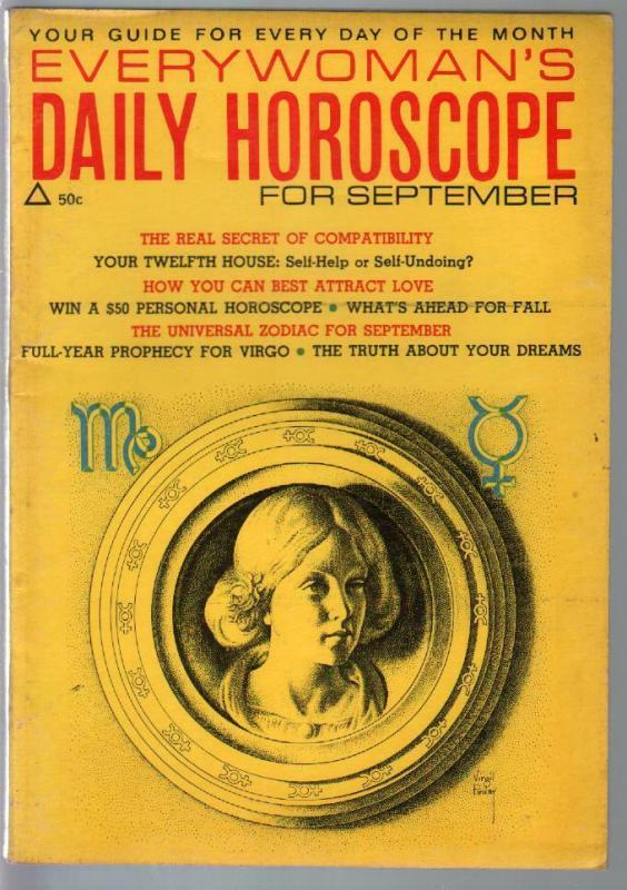 Everywoman's Daily Horoscope 9/1969-Virgil Finlay art-predictions-FN