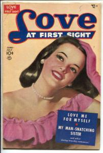 Love At First Sight #5 1950-Ace-spicy art-headlights-lingerie-VG