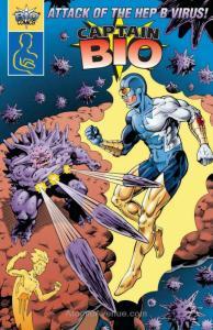 Captain Bio, Attack of the Hep B Virus #1 FN; Bio Comics | save on shipping - de