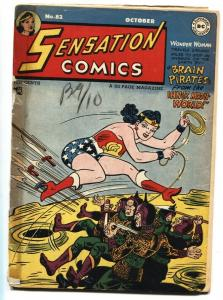 Sensation Comics #82 Wonder Woman 1948 DC Golden Age incomplete