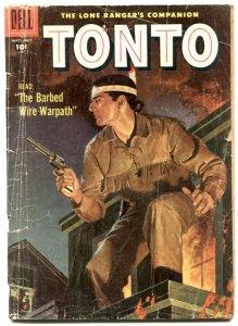 Tonto #27 1957- Dell Western- Lone Ranger's companion FR