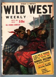 WILD WEST WEEKLY 9/26/1942-WESTERN PULP-TOMMY ROCKFORD VG/FN