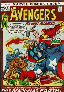 Signed By STAN LEE & NEIL ADAMS! Avengers #93, 4.5 or Better