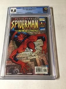 Peter Paker Spider-man 1 Cgc 9.8 White Pages Regular Cover