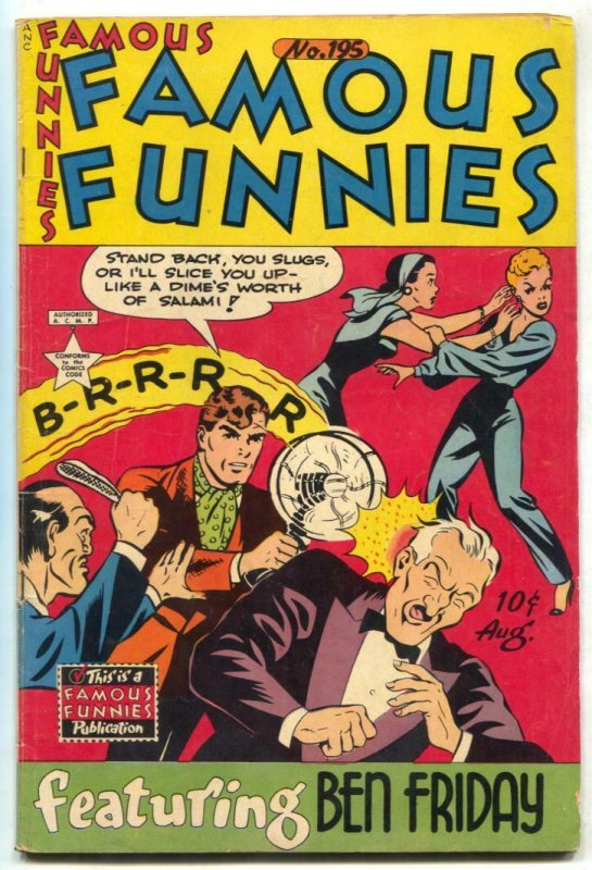 Famous Funnies #195 1952- Ben Friday- Dickie Dare VG+