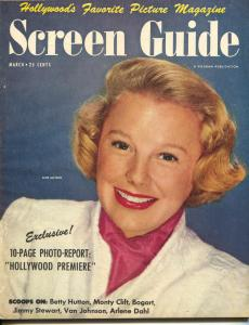 Screen Guide-June Allyson-Betty Hutton-Humphrey Bogart-Mar-1950