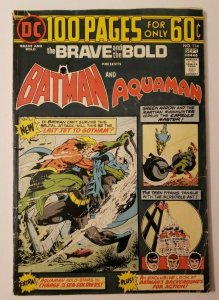 Brave & the Bold #114 (DC, 1974) VG- 3.5, Batman & Aquaman, 100 Page Giant