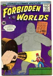 Forbidden Worlds #85 1960- Monkey cover- ACG Silver Age VG+