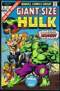 Giant Size Hulk #1 ORIGINAL Vintage 1975 Marvel Comics
