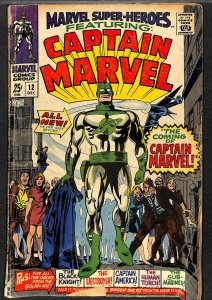 Marvel Super-Heroes #12 GD- 1.8 1st Captain Marvel! Comics
