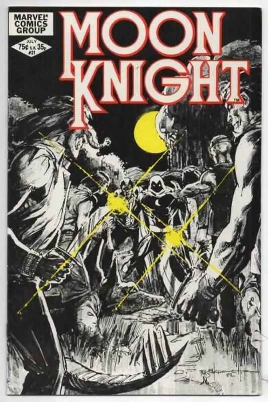 MOON KNIGHT #21, VF+, 1980 1982, Sienkiewicz, Master of Night, Marvel