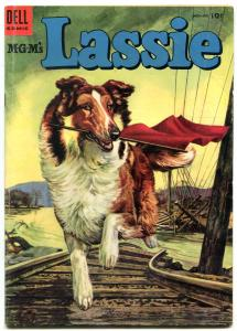 LASSIE #19-1954-MOVIE-TV-COLLIE-TRAIN DISASTER-vg