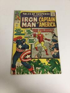 Tales Of Suspense 60 Vg Very Good 4.0 Iron Man Captain America