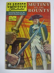 CLASSIC ILLUSTRATED #100 (VG) MUTINY ON THE BOUNTY (9TH Edition, HRO=169) 1970