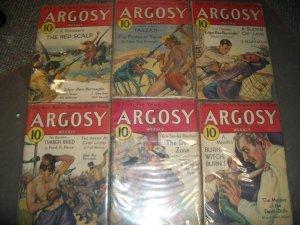 ARGOSY PULP LOT 1932-PIRATES OF VENUS-RICE BURROUGHS VG+