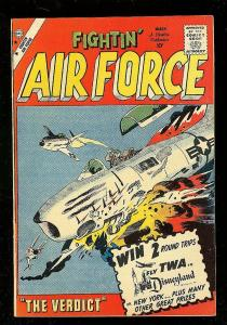 FIGHTIN' AIR FORCE #20 1960-CHARLTON WAR COMIC-GLANZMAN VF-