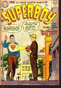 SUPERBOY COMICS #60 SUPER X-RAY COVER LANA LANG DC 1957 G/VG