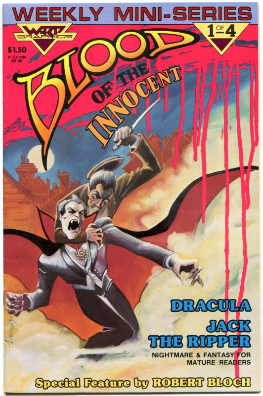 BLOOD OF THE INNOCENT #1 2 3 4, VF+, 1986, 4 issues, Dracula, Jack the Ripper